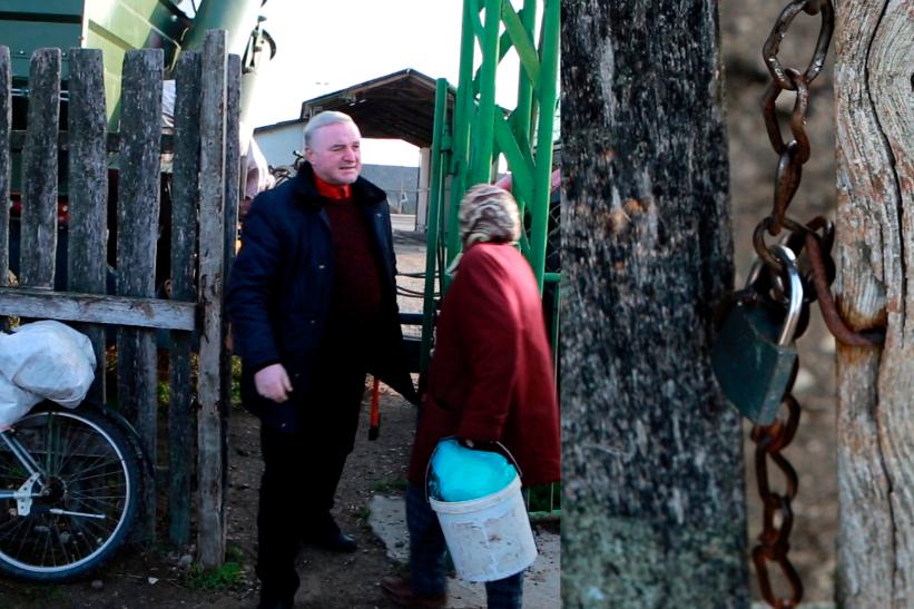 VIDEO | Fostul primar al satului Drepcăuți își face mendrele din nou. Ghenadie Ioxa a vrut să deposedeze mai mulți oameni de recoltă, însoțit de mascați