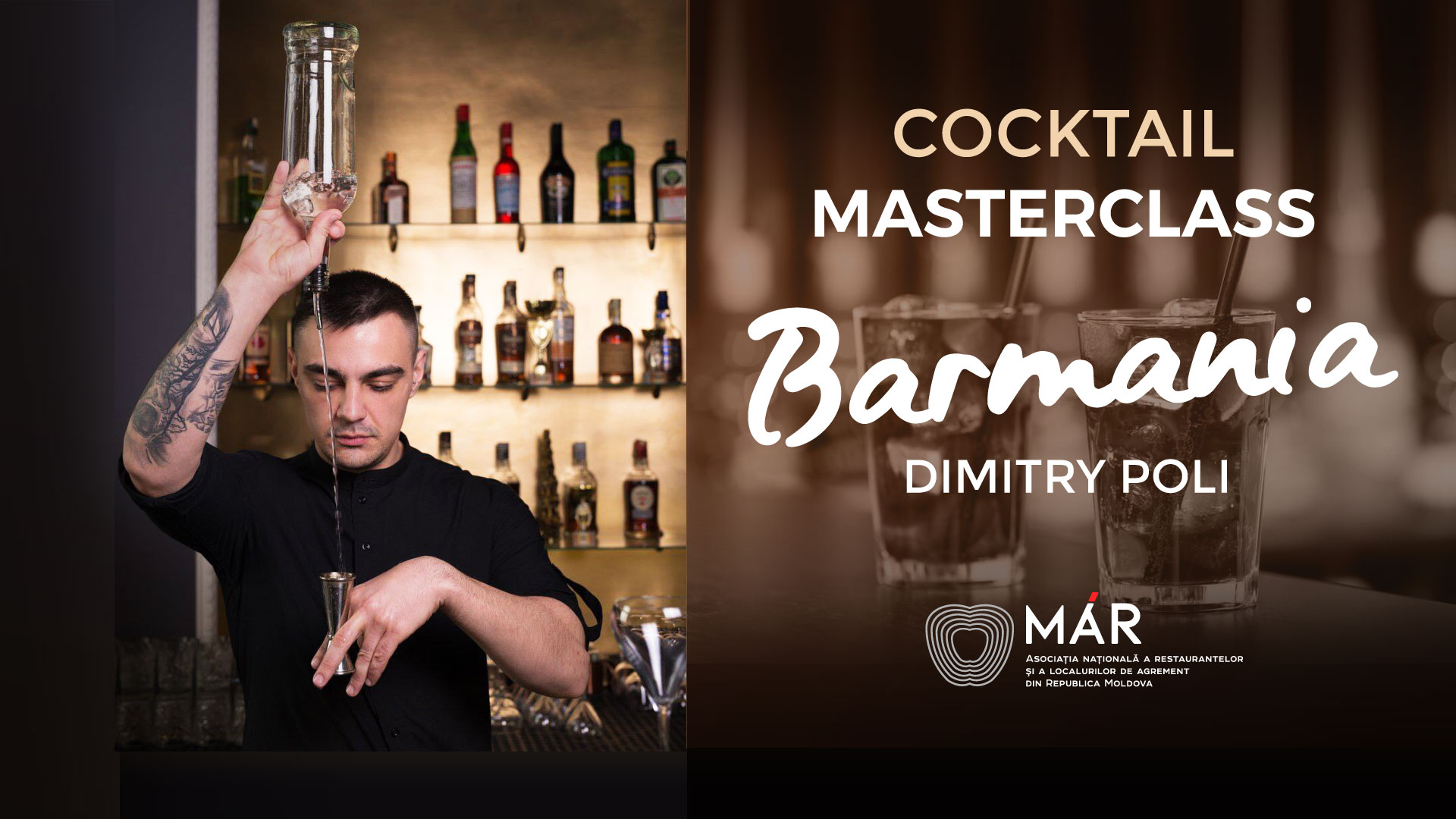 "FOTO / VIDEO | Cocktail Masterclass ""BARMANIA"" continuă. Barmanii din țară sunt invitați să participe gratuit la training"
