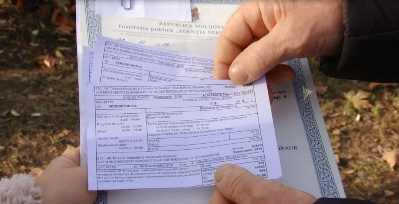 VIDEO | Nepăsarea vecină cu hoția: Un bărbat din Bălți a plătit ani de zile facturi pentru persoane inexistente