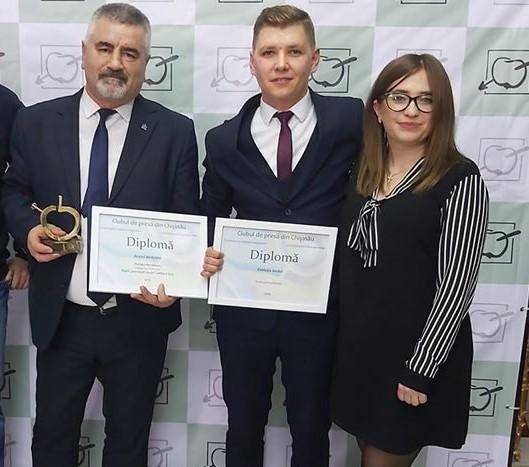 FOTO | Portalul de știri NordNews din Bălți a obținut primul Măr de Aur în jurnalism