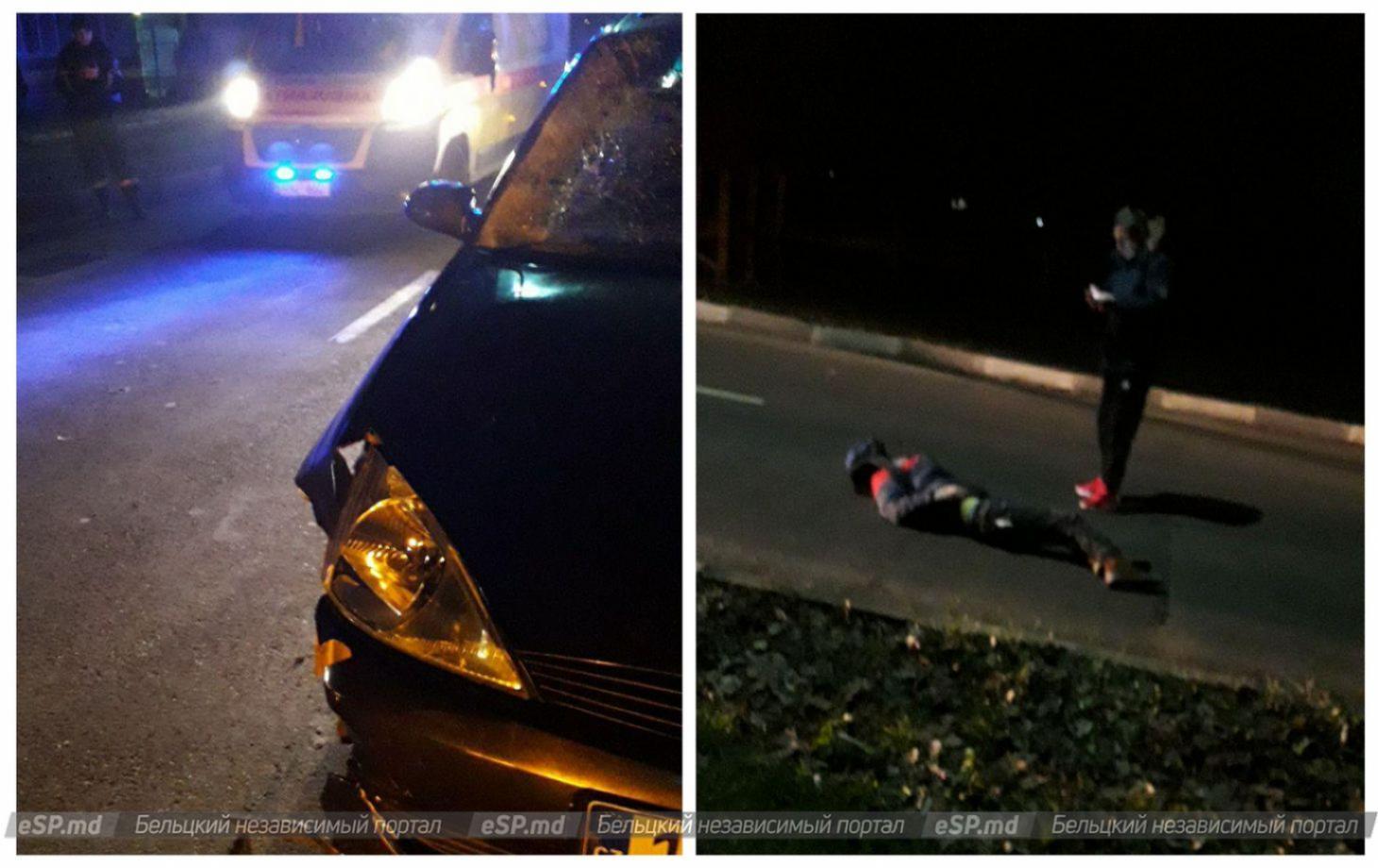 FOTO | Doi tineri din Bălți au fost tamponați de un automobil. O tânără de 19 ani a decedat pe loc