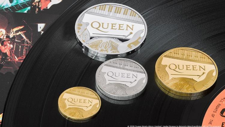 Marea Britanie a emis o monedă comemorativă dedicată trupei Queen