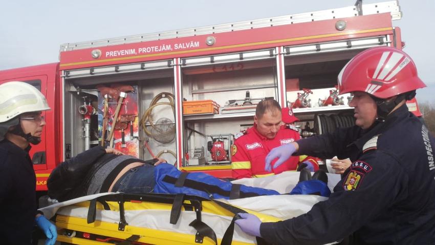 ФОТО | В Румынии машина с гражданином Молдовы попала в аварию
