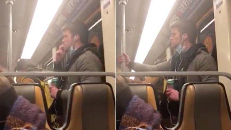 VIDEO | Și-a lins degetele, apoi le-a șters de bara de la metrou. Un bărbat, arestat în Belgia