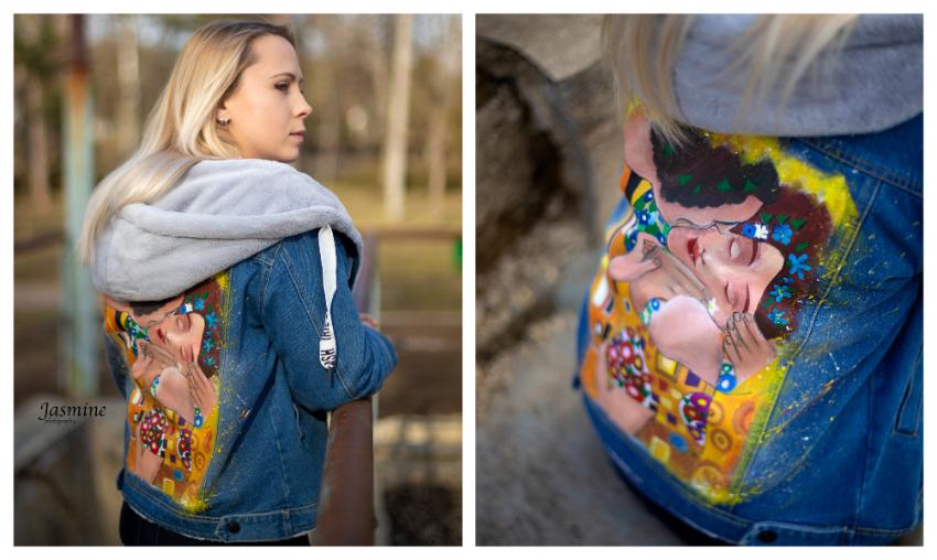 ВИДЕО | Молодая художница из Бельц превращает одежду в произведение искусства