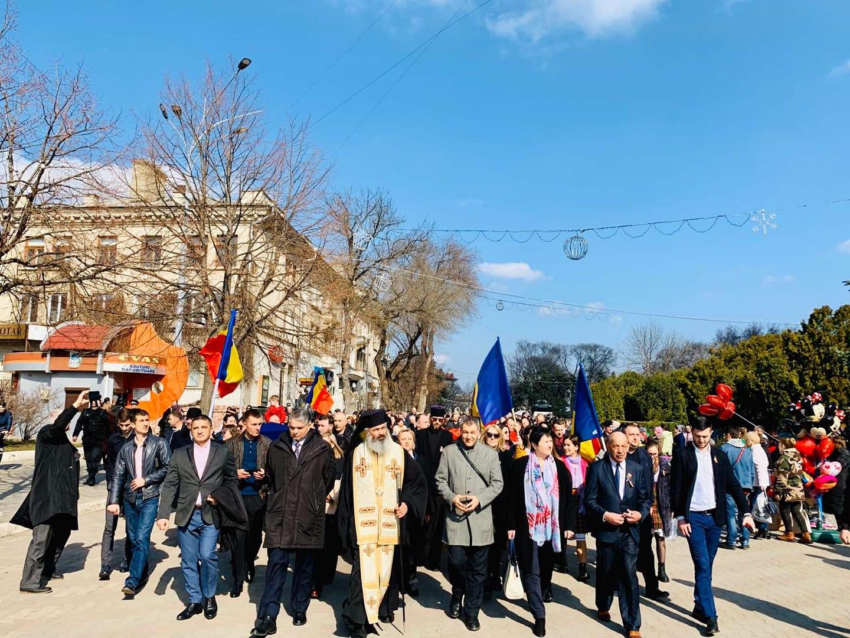 VIDEO | Unirea Basarabiei cu România, marcată cu mult fast la Bălți. Printre invitați, un secretar de stat de la București