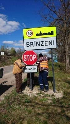 Foto| Satul Brînzeni, raionul Edineț, plasat în carantină