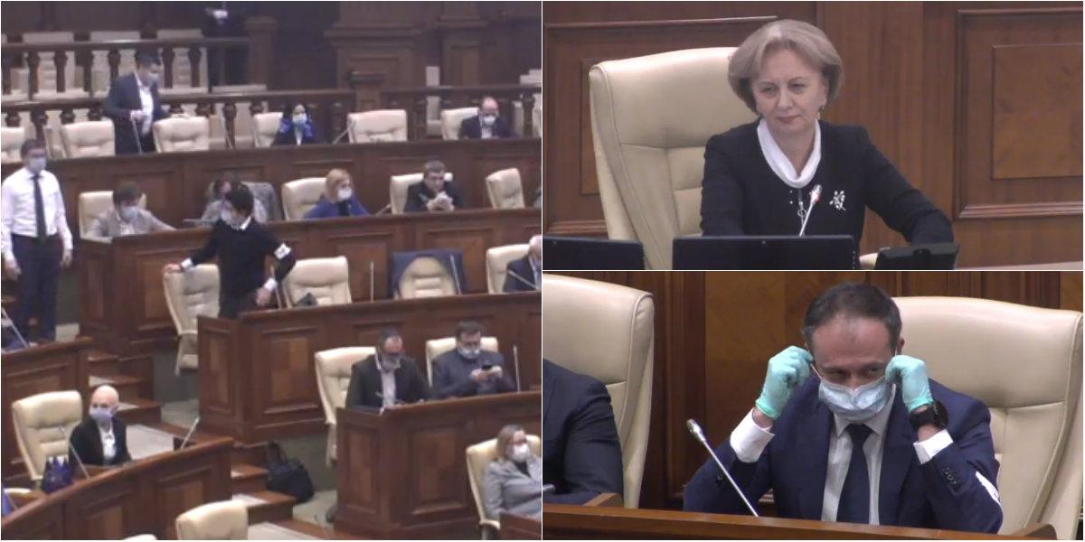 Scandal în Parlament. Unii deputați au bătut în mese, alții au acuzat guvernarea de ilegalități