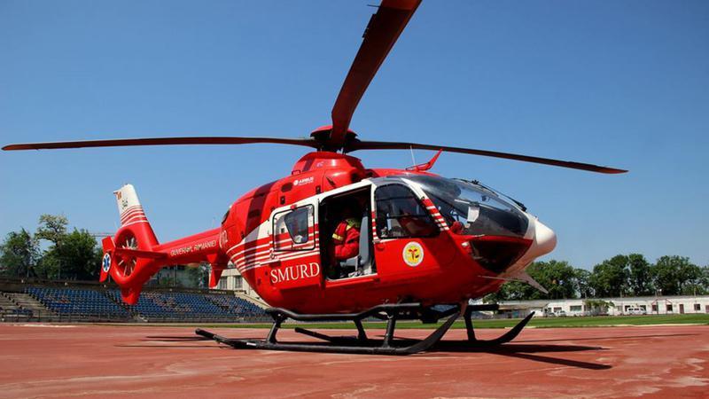 Un tânăr din Ocnița, transportat de urgență la Chișinău cu elicopterul SMURD