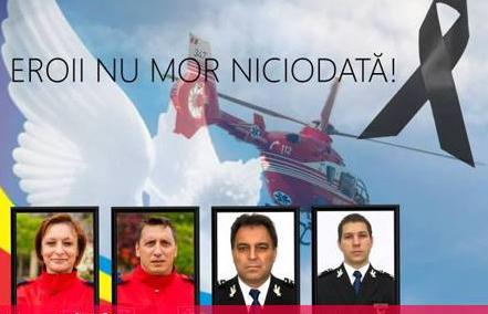 Patru ani de la tragedia de la Haragâș, când un elicopter SMURD s-a prăbușit, iar cei patru membri ai echipajului au murit