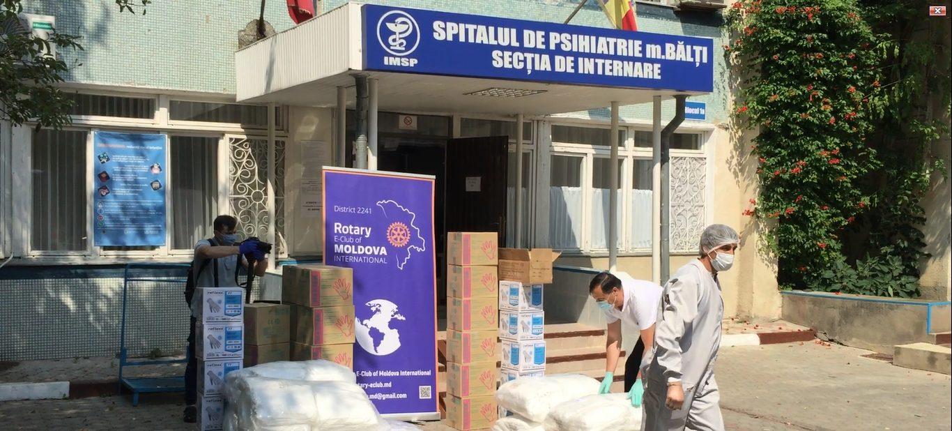 ВИДЕО | Бельцкой психиатрической больнице пожертвовали оборудование на 150 тысяч леев для борьбы с COVID-19