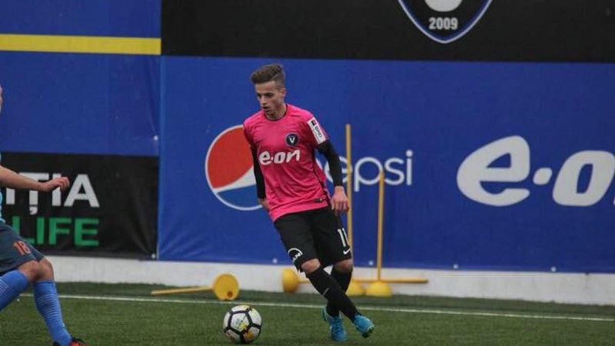 Un fotbalist basarabean a debutat în campionatul României