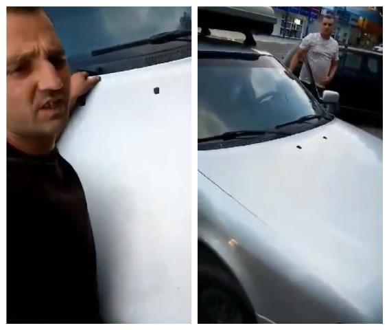 VIDEO | Un fost polițist din Bălți recidivează. A purtat un bărbat pe capota mașinii mai bine de jumătate de kilometru