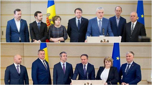 Deputații Platformei DA și Pro Moldova s-au așezat la masa de discuții. Subiectul central: Demiterea Guvernului Chicu și numirea altui Executiv