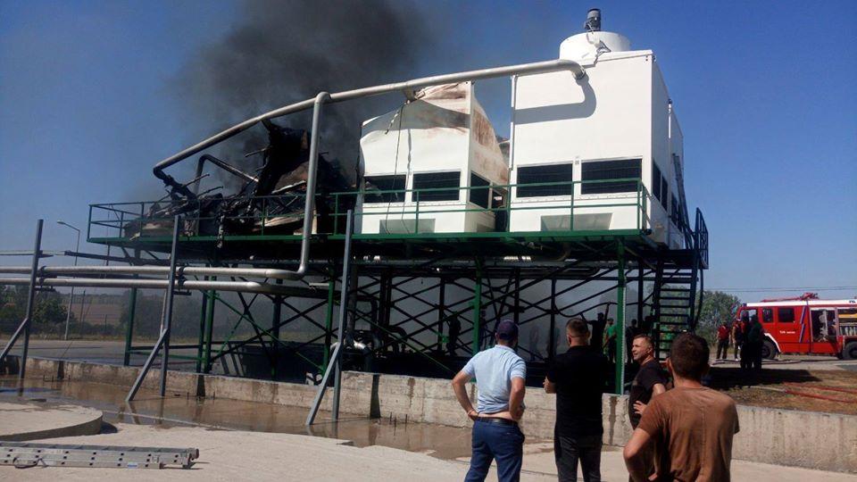 ФОТО | Пожар на соковой фабрике в Единцах